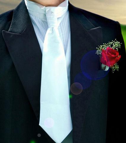 Cravate de mariage + boutonnière pas cher - Occasion du mariage