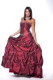 Robe de mariée de Princesse Pronuptia d'occasion couleur bordeaux
