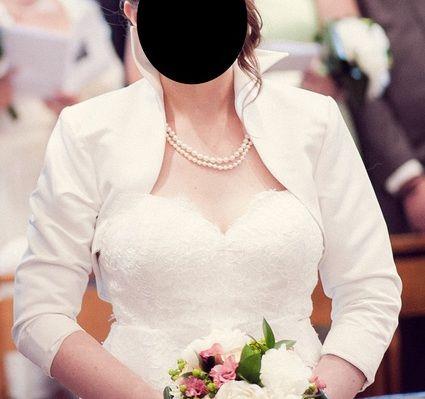 Boléro de mariée satin T40 couleur ivoire de marque Forever Yours
