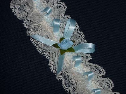 Jarretières Bleu Neuves pas cher - Occasion du mariage