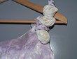 Robe de mariée Divina Sposa couleur parme et ivoire d'occasion