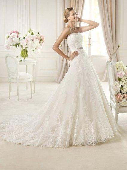 Robe de mariée dentelle pronovias T42 d'occasion