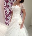 Superbe robe de mariée bustier «Elégance», avec boléro man - Occasion du Mariage