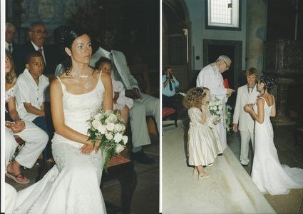 Magnifique Robe De Mariée Sirène d'occasion avec voile et traîne
