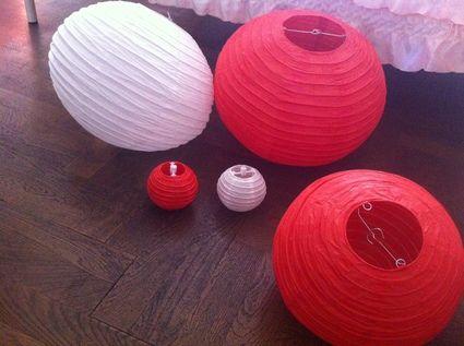 Lanternes types asiatiques à Lyon en décoration de mariage d'occasion