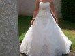 Robe de mariée Miss kelly paris style princesse + jupon et mitaine pas cher
