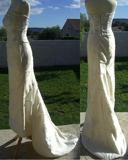 Robe de mariée bustier Mathyro pas cher d'occasion 2012 - Languedoc Roussillon - Hérault - Occasion du Mariage