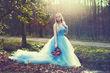 Robe bal demoiselle d\'honneur bleu  - Occasion du Mariage