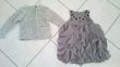 Robe grise +gilet gris assorti taille 2 ans - Occasion du Mariage