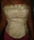 Robe sirène de coktail/soirée  jupe + bustier + étole - Occasion du Mariage