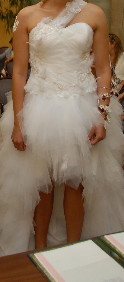 Robe de mariée pas cher blanche en tulle - Occasion du Mariage