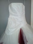 Robe de mariée blanche et bordeaux - Occasion du Mariage