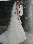 Robe de mariée ivoire avec fourreau taille 36