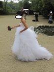 Robe de mariée Pronuptia avec jupon composé de 3 cerceaux
