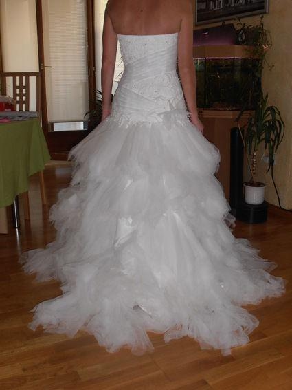 Robe de mariée longue et courte taille 38