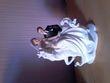 Figurine des maries sur chaval blanc luxe - Occasion du Mariage