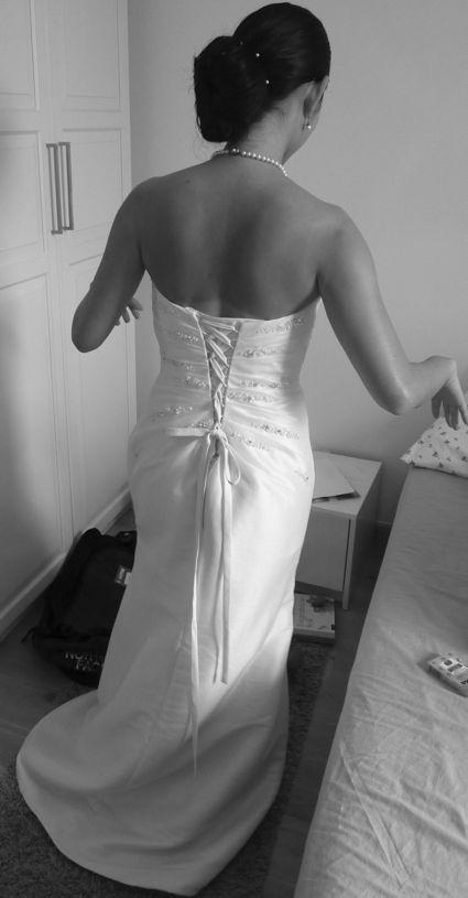 Robe de mariée d'occasion de créateur couleur ivoire T36-40 à Paris