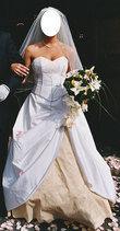 Robe de mariée T.38-40  en soie sauvage - Occasion du Mariage