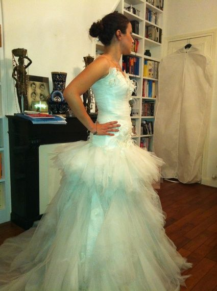 Robe de mariée d'occasion du créateur MAX CHAOUL collection I Love You
