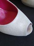 Escarpins sandales blancs paillettés Alain Jarian - Occasion du Mariage