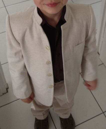 Costume garçon 4 ans - Ecru chocolat Petits'Mecs