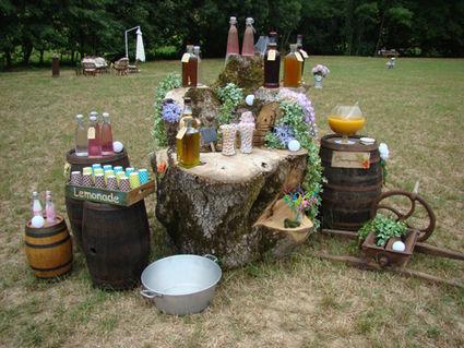 Toile de Jute pour limonade bar de votre mariage en 2013