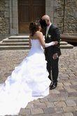 robe de mariée t 40 blanche avec jupon - Occasion du Mariage