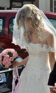 Robe de mariée pas cher avec le voile et le jupon - Occasion du mariage