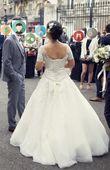 Robe de mariée blanche brodée - Occasion du Mariage