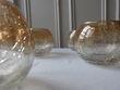 Bougeoirs en verre - reflets dorés - Yvelines