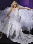 Magnifique robe de mariée Demetrios dos nu sexy et dentelle