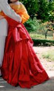 Robe rouge en soie 38 - Occasion du Mariage