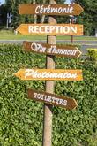 Pancartes directionnelles en bois - Occasion du Mariage