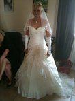 superbe robe de mariée ivoire avec traine - Occasion du Mariage