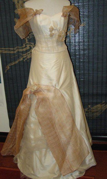 Robe de mariée Elsa Gary + lingerie 100% soie neuve