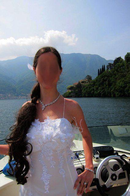 Robe de mariée d'occasion / Mariage pas cher / Dentelle et plumes 2012 - Occasion du mariage