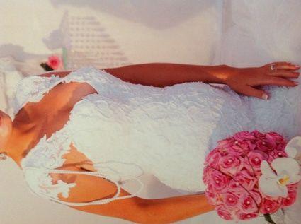Robe de mariée sirène en dentelle de Calais d'occasion