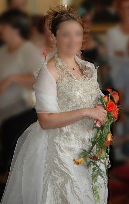 Robe de mariée Linea Raffaelli sable taille 38/40 d'occasion
