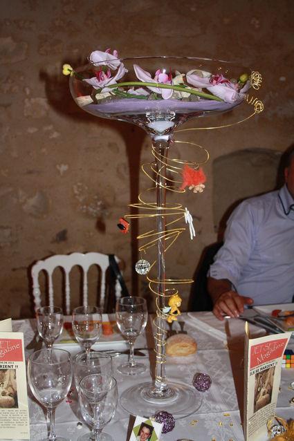 Vase mariage réception en décoration de table