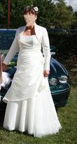 Robe de Mariée Dos Nu d'occasion avec petit boléro