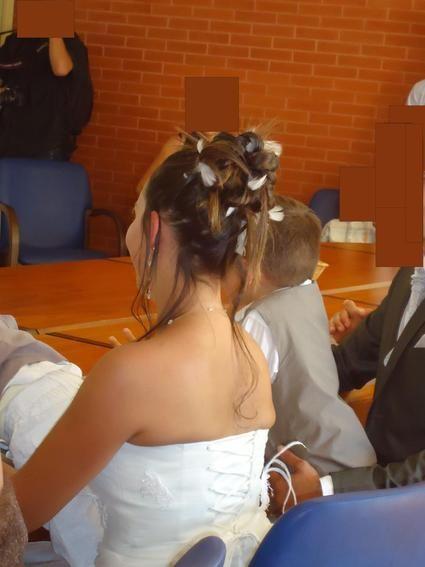 Robe de mariée Pronuptia d'occasion modèle Tendresse + Mitaines