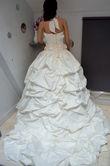 Robe de mariée traine cathedral pas cher Paris 2012 - Occasion du Mariage