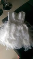Robe mariee plumes - Occasion du Mariage