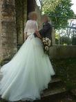 Robe de mariée modèle Alma 2013 en 36/38 avec jupe en tulle
