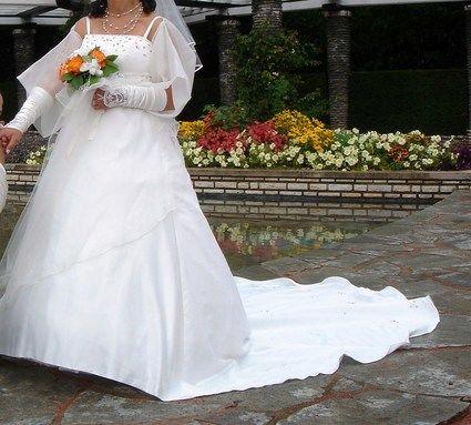 Robe de mariée 40/42 pas cher + chaussures, voile étole - Occasion du Mariage