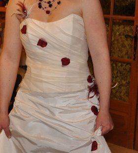 Très belle robe de mariée bustier de créateur discount - Rhône Alpes - Savoie 2012 - Occasion du mariage