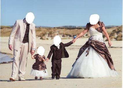 Costume garçon pour mariage avec chemise et cravate ivoire