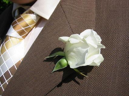 Boutonnières de marié pas cher blanche - Occasion du mariage