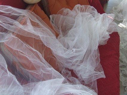 Robe de mariée et Demetrios grande taille + accessoires