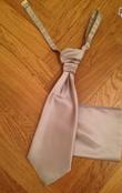 Gilet/cravallière et pochette gris - Occasion du Mariage